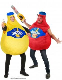 Orangina™ Flaschen-Paarkostüm für Erwachsene gelb-rot