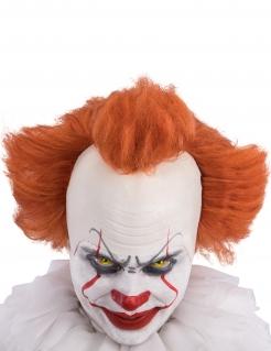 Horror-Clown Peruecke fuer Erwachsene orange