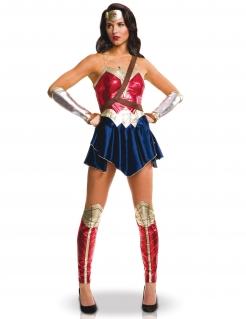 Wonder Woman™ Kostüm für Damen rot-blau-goldfarben