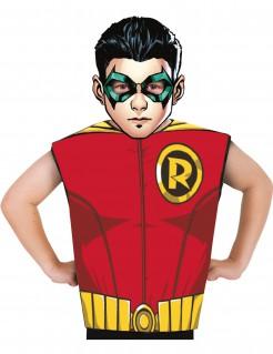 Robin™ Kinder T-Shirt und Maske bunt