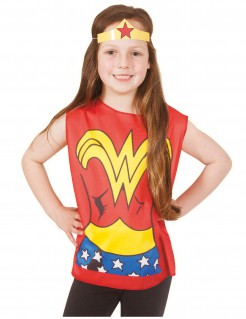 Wonder Woman™ Kinder T-Shirt und Stirnband bunt
