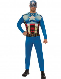 Captain America™-Lizenzkostüm für Erwachsene bunt