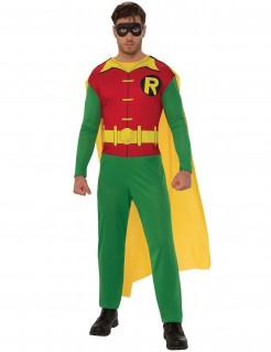 Robin™ Herrenkostüm rot-gelb-grün