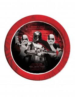 Star Wars™-Pappteller Die letzten Jedi™ 8 Stück schwarz-rot 23cm