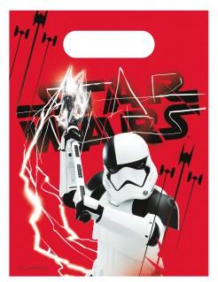 Star Wars™Die letzten Jedi™ Geschenktüten-Set 6 Stück rot-weiss-schwarz 23x16,5cm