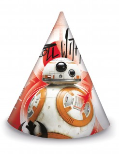 Star Wars™Die letzten Jedi™ Partyhüte 6 Stück bunt