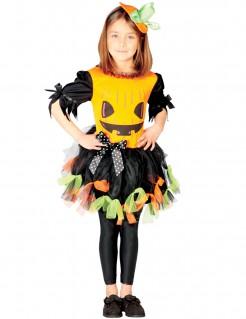Kuerbiskostüm für Mädchen schwarz-orange