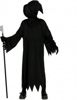 Düsteres Sensenmannkostüm für Kinder Halloween schwarz