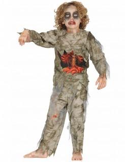 Zombiekostüm für Jungen Halloween grün