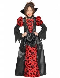 Vampir-Gräfinkostüm für Mädchen schwarz-rot
