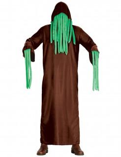 Schauriges Tentakelkostüm für Erwachsene braun-grün