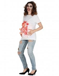 Blutiges T-Shirt Damen weiss
