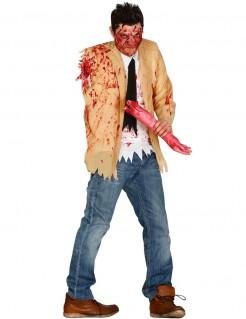 Armloser Zombie Halloween-Kostüm beige-weiss