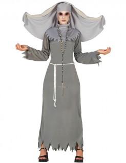 Zombie-Nonnenkostuem Halloween grau