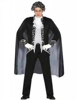 Barock Geisterkostüm für Herren schwarz-weiss
