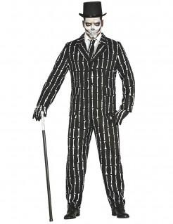 Stilvoller Skelettanzug für Herren schwarz-weiß