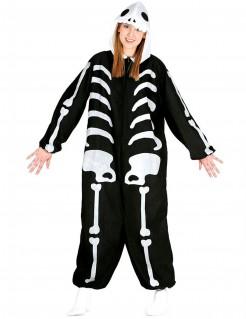 Gemütlicher Skelett-Overall Skelettkostüm für Erwachsene