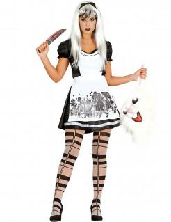 Gothic Alice-Halloweenkostüm schwarz-weiss