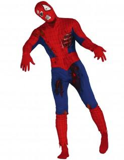 Untoter Held Spinnen-Kostüm rot-blau