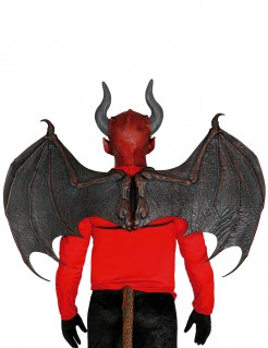 Teufelsflügel Halloweenaccessoire braun