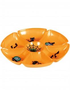 Vorspeise-Tablett für Halloween orangefarben 29cm
