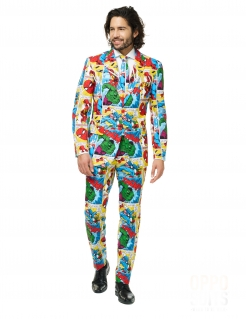 Mr. Marvel Comics™ Kostüm für Herren Opposuits bunt
