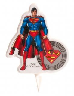 Superman™-Kerze für den Geburtstag bunt 7,5cm