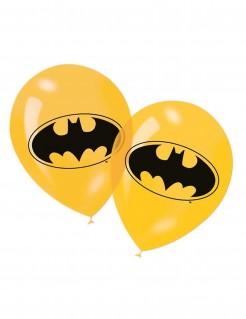 Batman™-Ballons Lizenzartikel 6 Stück gelb-schwarz