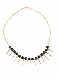 Gothic Halskette für Damen Halloween schwarz-gold