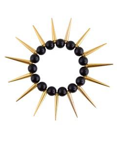 Punk-Armband für Erwachsene gold-schwarz