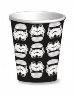 Stormtrooper-Pappbecher Star Wars™ 8 Stück schwarz-weiss 250ml