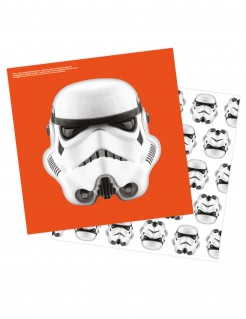 Stormtrooper Servietten Star Wars™ 16 Stück orange-schwarz-weiss 33x33cm