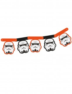 Stormtrooper-Girlande Star Wars™ schwarz-weiss-orange 163,5cm