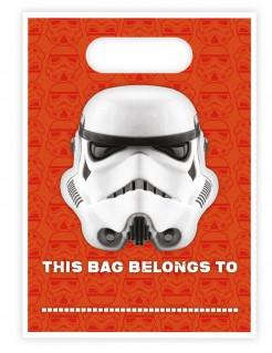 Stormtrooper™-Geschenktüten Star Wars™ Lizenzartikel 16 Stück orange-weiss 16,5x23cm