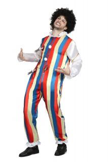 Erstochener Clown Horrorclown-Kostüm bunt