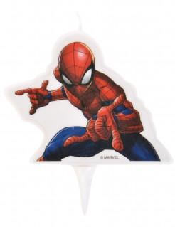 Spider-Man™ Kerze für Geburtstagskuchen weiss-rot-blau 9 x 7 cm