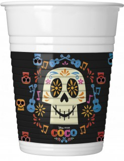Coco™-Partybecher 8 Stück schwarz-weiß-bunt 200ml