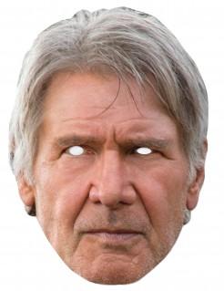 Han Solo™-Maske Star Wars™-Lizenzartikel beige-grau