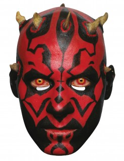 Darth Maul™-Maske Star Wars™ Lizenzartikel rot-schwarz