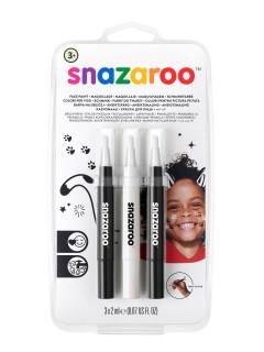 Schminkstifte von Snazaroo™ 3 Stück schwarz-weiss 6ml