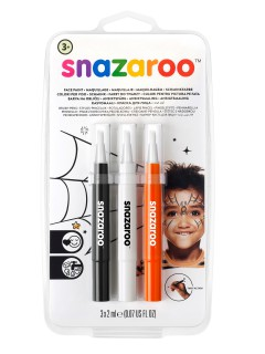 Snazaroo™ Make-up-Stifte Halloween schwarz-weiss-orange