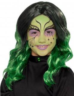 Langhaarperücke für Kinder schwarz-grün