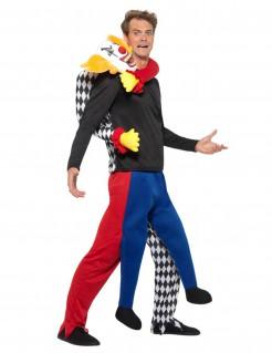 Horrorclown Carry-Me-Kostüm Halloween bunt
