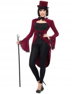 Vampirfrack Gothic Damen schwarz-rot
