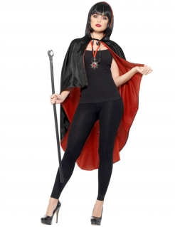 Vampir-Kostüm Damen schwarz-rot
