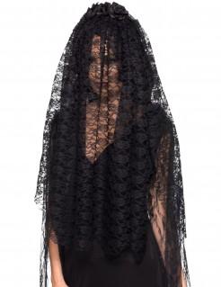 Gothic-Brautschleier Kostüm-Zubehör für Halloween schwarz