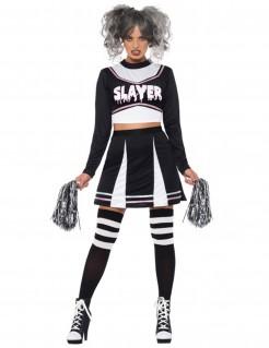 Cheerleaderkostüm Halloween schwarz-weiss