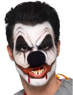 Horror-Clown Make-up-Set 6-teilig schwarz-weiss-rot
