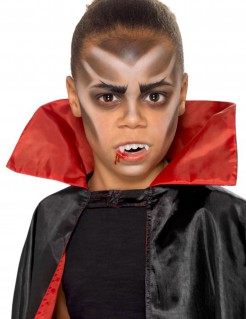 Vampir-Make-up-Set für Kinder 4-teilig weiß-schwarz-rot