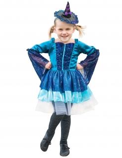 Bezauberndes Hexenkostüm für Mädchen blau